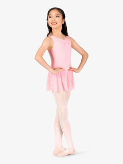 Girls Pinch V-Front Tank Ballet Dress