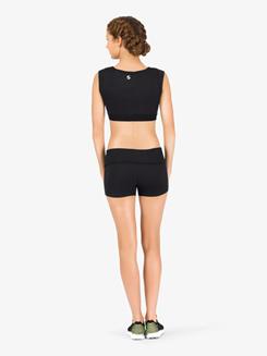 Womens Cap Sleeve Athletic Crop Top