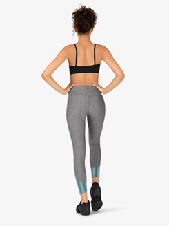 Womens Fitness Crop Compression Leggings