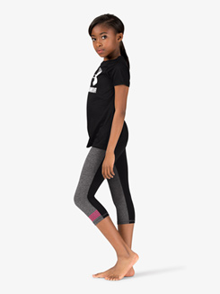 Girls Workout Soft Knit Capri Leggings