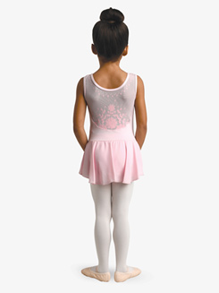 Girls Flock Print Tank Ballet Dress