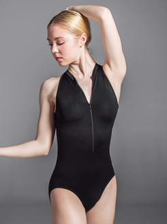 Womens Velvet Zip Up Tank Leotard