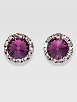 20MM Pierced Swarovski Crystal Earrings