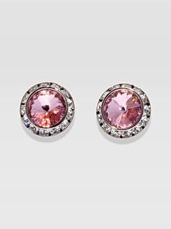 17MM Clip On Swarovski Crystal Earrings