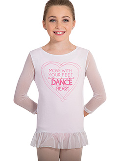 Girls MoveTECH Graphic Print Dance Top