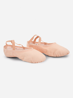 Adult Silhouette Split-Sole Canvas Ballet Slipper