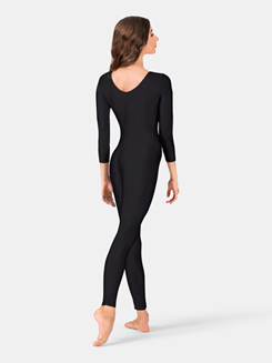 Adult Nylon Scoop Neck Long Sleeve Unitard