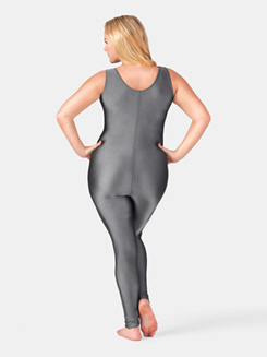 Adult Plus Size Nylon Scoop Neck Tank Unitard