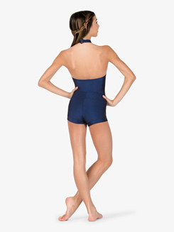Adult Plus High Neck Thong Back Leotard