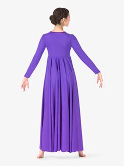 Womens Flowy Plus Size Worship Dress