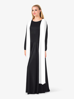 Womens Attached Scarf Worship Dress