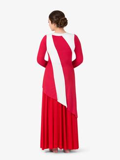 Womens Striped Plus Size Worship Tunic