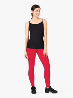 Womens Team Basic Compression Camisole Dance Top