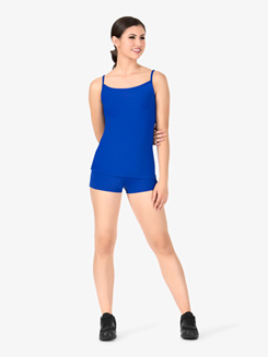 Womens Team Basic Compression V-Front Dance Shorts