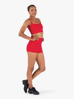 Womens Team Basic Compression High Waist Dance Shorts