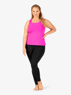 Womens Plus Size Team Basic Compression Dance Legging