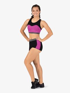 Womens Team Three-Tone Compression Shorts