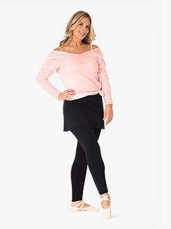 Womens Plus Size Faux Skirt Dance Leggings