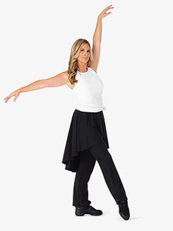 Womens Plus Size Faux Skirt Bootcut Dance Pants