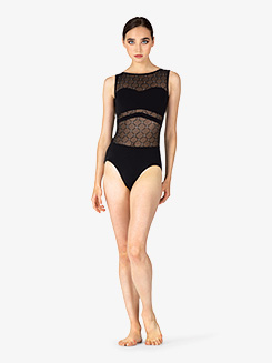 Womens Diamond Mesh Sweetheart Tank Leotard