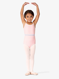 Girls Mesh Panel Camisole Leotard