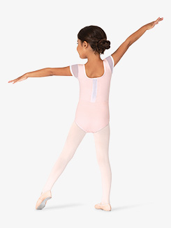 Girls Bow Detail Cap Sleeve Leotard
