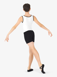 Mens Two-Tone Dance Tank Shorty Unitard