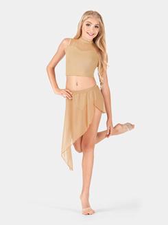 Child Asymmetrical Drape Dance Skirt