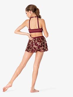 Girls Performance Sequin Halter Bra Top