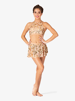 Womens Performance Sequin Mini Skirt