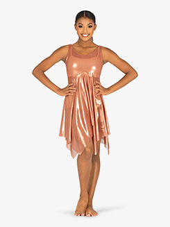Womens Performance Metallic Tank Overdress