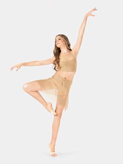 Adult Rouched Waist Mesh Dance Skirt