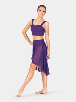 Adult Mid Length Open Panel Skirt
