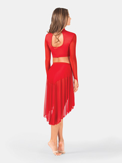 Adult Asymmetrical Faux Wrap Skirt