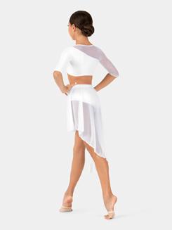 Child 3/4 Sleeve Asymmetrical Dance Crop Top