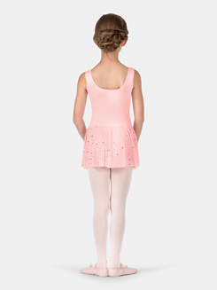 Child Foil Dot Tank Mesh Dress