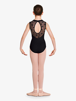 Girls Theodora Mock Neck Tank Leotard