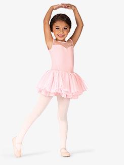 Girls Birdine Flower Mesh Short Sleeve Ballet Tutu Dress