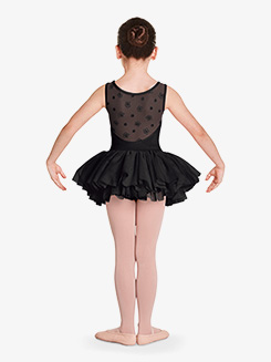 Girls Aiko Flower Mesh Tank Ballet Tutu Dress