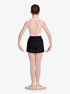 Girls Chantrell Flower Mesh Waistband Pull-On Ballet Skirt