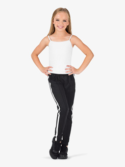 Girls Team Full Length Striped Jogger Pants