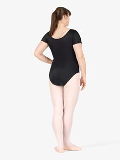 Adult Plus Size Short Sleeve Dance Leotard