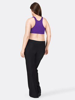 Adult Plus Size Nylon V-Front Jazz Pant