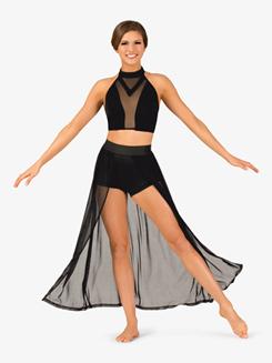 Womens Performance Open Front Mesh Skirt