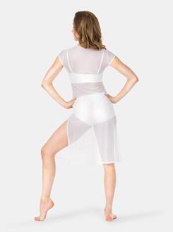 Adult Cap Sleeve Mesh Dress