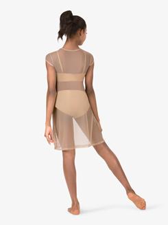 Girls Mesh Short Sleeve Dress