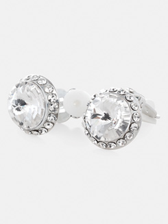 14mm Celestial Rhinestone Clip On Earrings