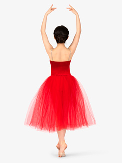 Girls Performance Camisole Velvet Tutu Dress