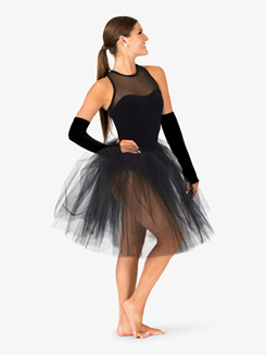 Womens Performance Tank Velvet Sweetheart Tutu Dress