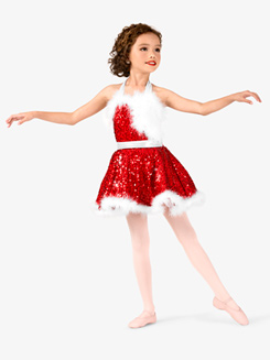 Girls Sequin Holiday Dress